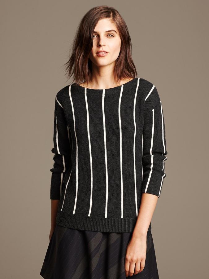 Banana Republic Vertical Stripe Pullover