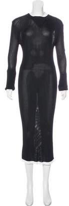 Ellery Long Sleeve Crew Neck Dress
