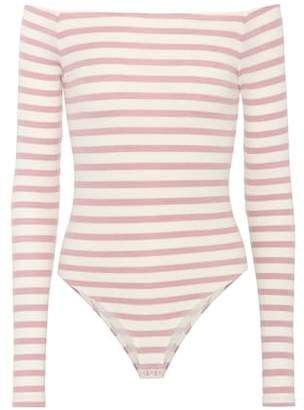 ATM Anthony Thomas Melillo Striped bodysuit