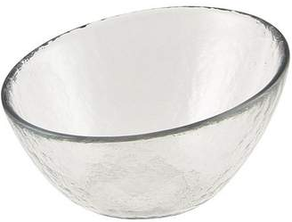 """Ten Strawberry Street 10 Strawberry Street Hammered Glass 5"""" Angled Bowls, Set of 6, Clear"""