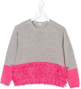 Il Gufo fringed colour-block jumper