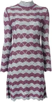 ALEXACHUNG Alexa Chung scallop knit A-line dress