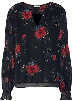 7e5d8eee167f Joie Anjanette Floral-print Silk-chiffon Blouse