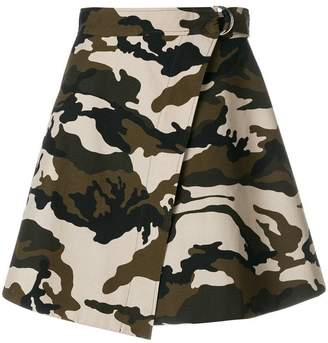 House of Holland camouflage wrap skirt