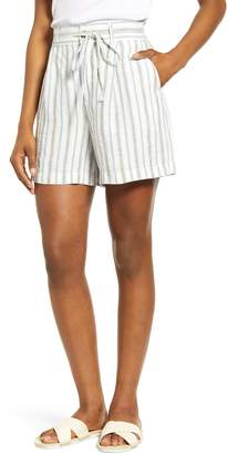 Lou & Grey Stripe Rope Tie Linen Shorts