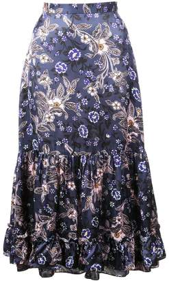 Jill Stuart floral print midi skirt