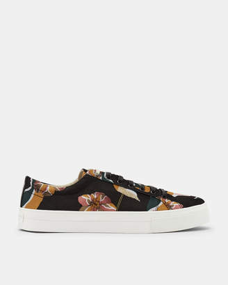 Ted Baker EPHRON Printed plimsoll trainers