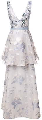 Marchesa sleeveless floral dress