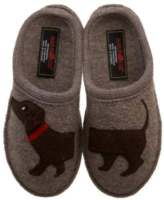 Haflinger Women's Doggy Applique Slipper