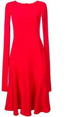 Calvin Klein cape-sleeve flared dress