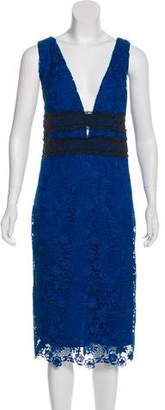 Diane von Furstenberg Viera Lace Midi Dress w/ Tags