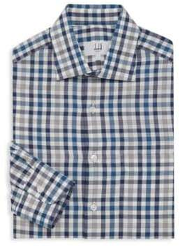 Dunhill Classic Plaid Dress Shirt