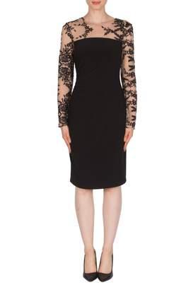 Joseph Ribkoff Semi-Sheer-Upper Dress