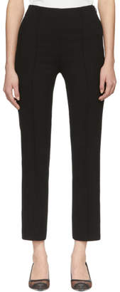 Fendi Black Crepe Cropped Trousers