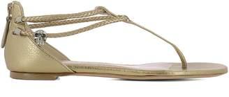 Alexander McQueen Gold Leather Sandals