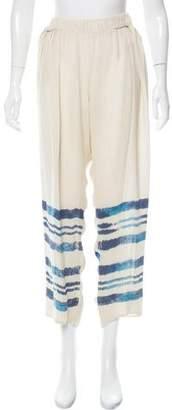 Raquel Allegra Silk Mid-Rise Pants