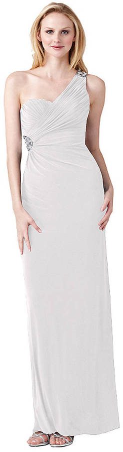 HAILEY LOGAN Embellished Open Back Gown