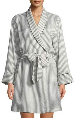 Morpho + Luna Alix Striped Long-Sleeve Silk Robe