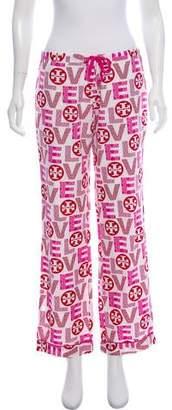 Tory Burch Mid-Rise Printed Pajama Pants