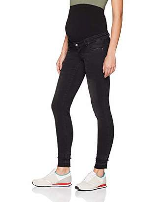 fe7741ac70d Mama Licious Mamalicious Women s Mlrio Slim Black Pu Ankle Jeans A.  Maternity Trousers