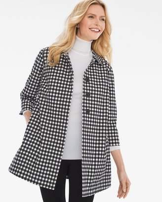 Gingham Pleat-Back Jacket