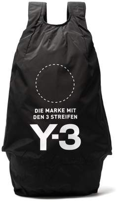 Y-3 - Yohji Signature Logo Print Backpack - Mens - Black
