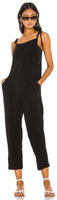 Bobi BLACK Woven Viscose Jumpsuit