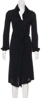 Salvatore Ferragamo Long Sleeve Midi Dress