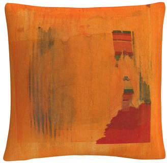 "Anthony Logistics For Men Baldwin Orange Vector Colorful Shapes Line Composition 16x16"" Decorative Throw Pillow by Sikich"