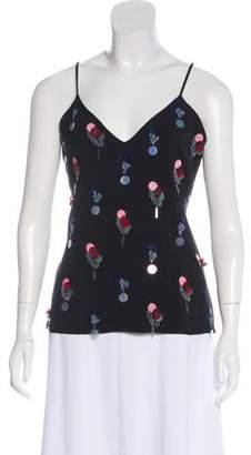 Cushnie et Ochs Sleeveless Embellished Top