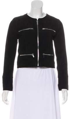 Chaser Suede Zip-Up Jacket