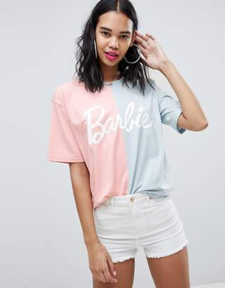 Missguided Barbie Two Tone T-Shirt
