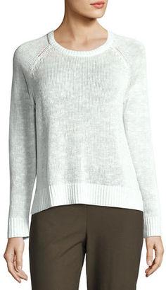 Eileen Fisher Organic Linen-Cotton Slub Sweater $168 thestylecure.com