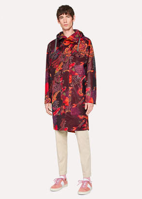 Paul Smith Men's 'Ocean' Print Micro-Ripstop Oversized Parka