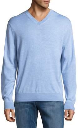 Saks Fifth Avenue Men's V-Neck Wool Sweater