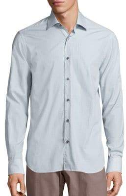 Saks Fifth Avenue COLLECTION Printed Long Sleeve Cotton Shirt