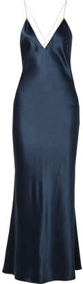 La Ligne - Boudoir Silk-satin Maxi Dress - Navy