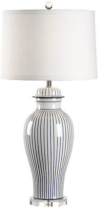 Chelsea House Urn Porcelain Lamp - Blue/White Stripe