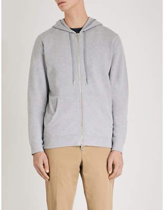 Sunspel Zipped cotton-jersey hoody