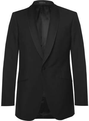 Richard James Black Slim-Fit Wool And Mohair-Blend Tuxedo Jacket
