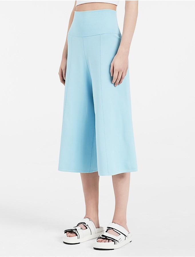 Calvin KleinPlatinum Matte Wide Leg Pants