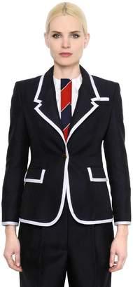 Thom Browne Wide Lapel Wool & Mohair Jacket