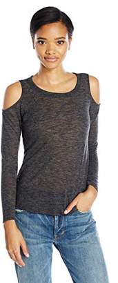 Splendid Women's Melange Cold Shoulder Top