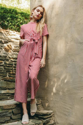 Everly Side-Tie Striped Jumpsuit