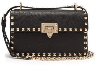 Valentino Rockstud Small Leather Shoulder Bag - Womens - Black