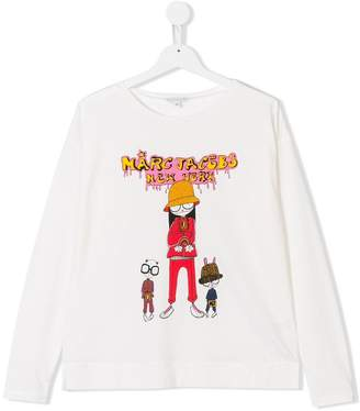 Little Marc Jacobs TEEN Miss Marc print T-shirt