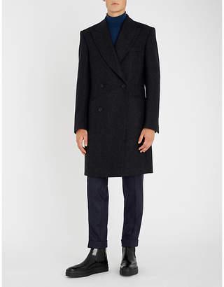 Richard James Herringbone double-breasted wool coat