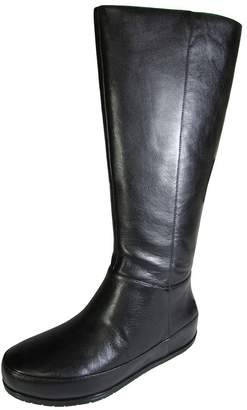 FitFlop Womens DueBoot Twisted Zip Knee High Boot Shoe, All , US 6