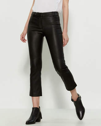 Derek Lam 10 Crosby Stretch Leather Cropped Pants