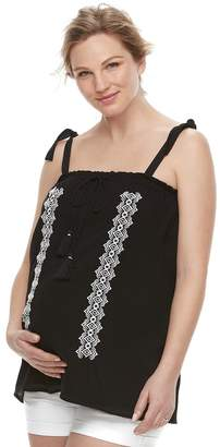 A Glow Maternity a:glow Embroidered Tank